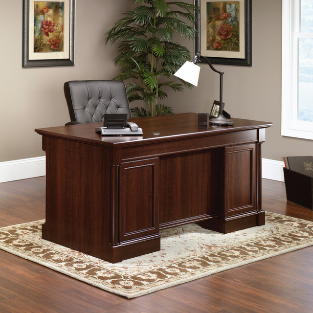 palladia executive desk traditional desks and hutches by sauder
