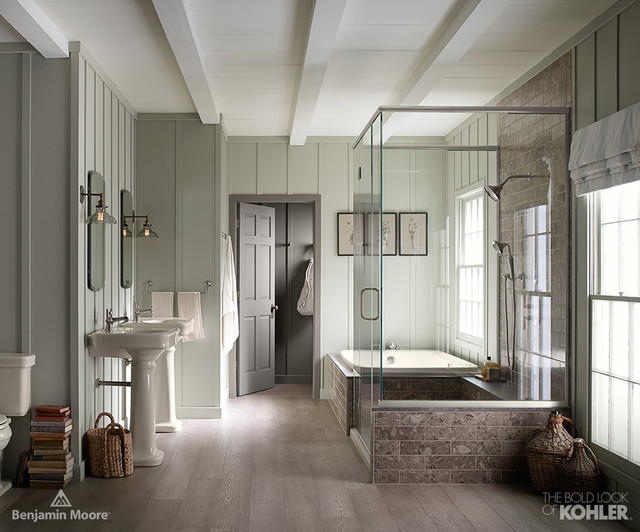 Farmhouse bathroom - Distributeur savon salle de bain ...