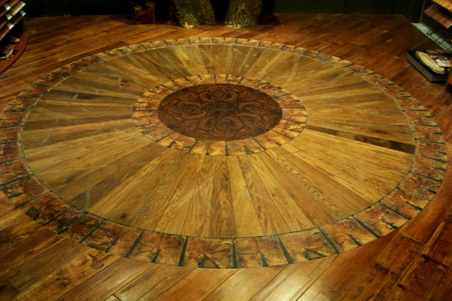 Reclaimed Wood Floor Medallion Cleveland By