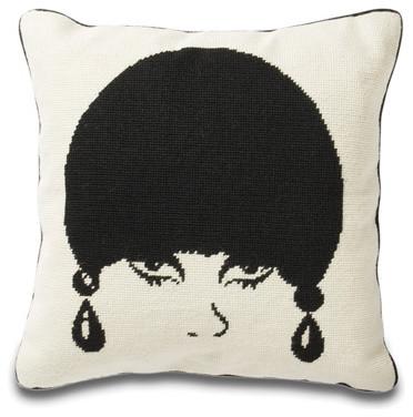 Jonathan Adler Mod Model Pillow in Needlepoint Pillows eclectic-decorative-pillows