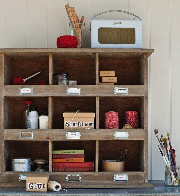 Wooden Wall Unit - Eclectic - Display And Wall Shelves ...