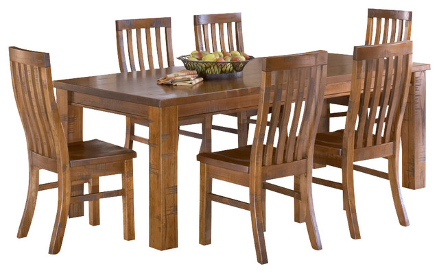 hillsdale outback 7 piece dining room set in distressed