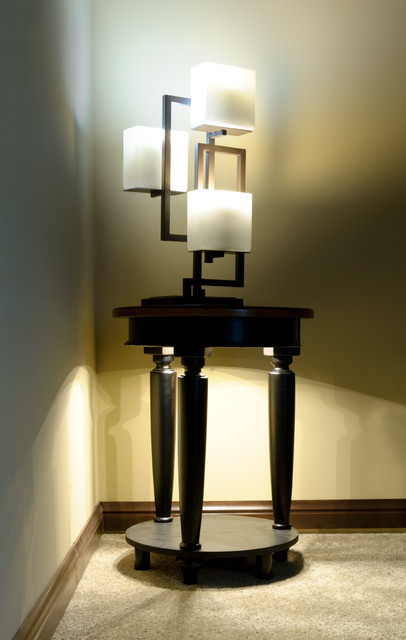 Led Side Table Accent Lighting And Contemporary Lamp Contemporary Living Room St Louis