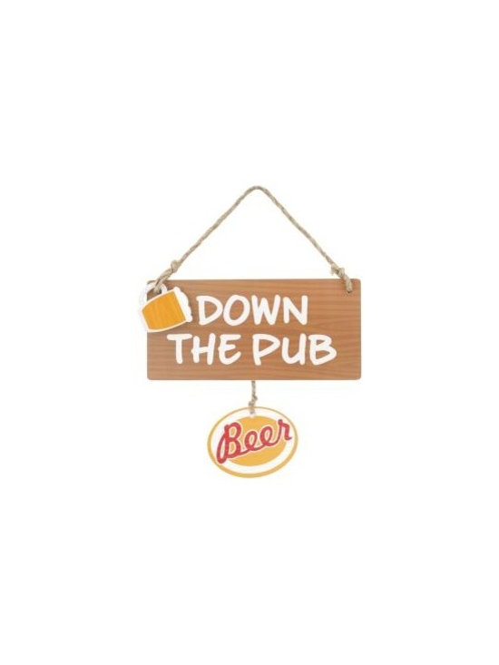 Down the Pub Hanging Sign -