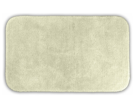 "Sands Rug - Cheltenham Ivory Washable Runner Bath Rug (2' x 3'4"") - Add a layer of plush comfort and safety with the inviting Cheltenham bath and spa rug collection. Each piece, whether a bath runner, bath mat or contoured rug, is created from soft, durable, machine-washable nylon. Each floor piece is backed with skid-resistant latex for safety."