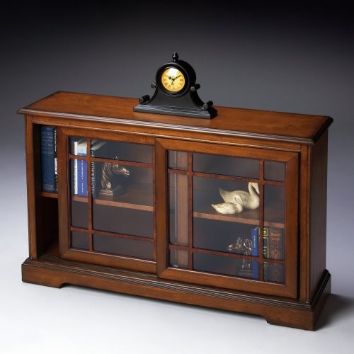 Butler Bookcase Console - Antique Cherry contemporary-bookcases