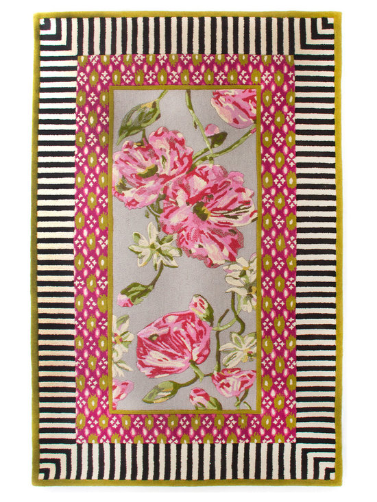 "MacKenzie-Childs - Summerhouse Rug 3' x 5' - MULTI COLORS - MacKenzie-ChildsSummerhouse Rug 3' x 5'DetailsRug hand tufted of wool.Size is approximate.Imported. See our Rug Guide for tips on how to measure for a rug choosing weaves and patterns and more.Please note: Rugs (especially wool rugs) are prone to a natural shedding process. With regular vacuuming the shedding will decrease over time. Hand-knotted rugs tend to shed less than hand-tufted rugs and flatweave rugs will shed less than those with a deeper pile but all rugs will shed more in high-traffic areas than they do in lower-traffic spaces. Unfortunately we cannot provide rug swatches at this time. We apologize for the inconvenience.We recommend using a rug pad with every indoor rug to prolong its beauty by minimizing everyday wear and tear and providing a little breathing space to help prevent fiber damage. A pad also helps stabilize the rug reducing slippage on hard floors.Designer About MacKenzie-Childs:Established in 1983 MacKenzie-Childs combines vibrant colors and patterns to create a whimsical collection of tableware furniture and decorative accessories that epitomize ""tradition with a twist."" The company's designers draw inspiration from the pastoral setting of their studios located on a 65-acre former dairy farm in Aurora New York."