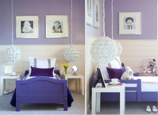 little girl 39 s room simple purple modern dreamy
