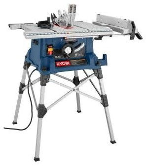 Table Saws: Ryobi 10 in. Portable Table Saw with Stand RTS20