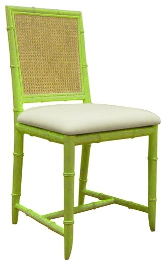 Aubrey Side Chair in Spring Green tropical-dining-chairs