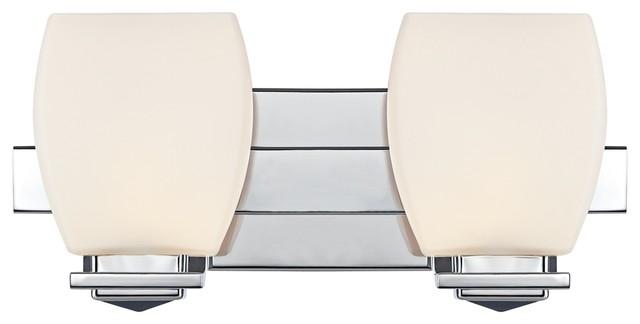 "Possini Euro Chrome 14"" Wide Bathroom Wall Light contemporary-bathroom-vanity-lighting"