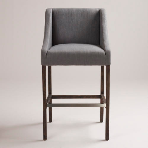 Gray Hayden Barstool - modern - bar stools and counter stools ...