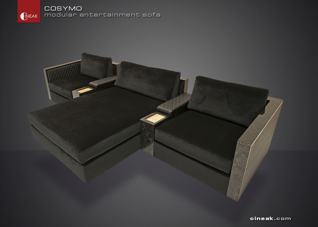 Media Room and Home Theater Sectional Sofa by Cineak - - sectional ...