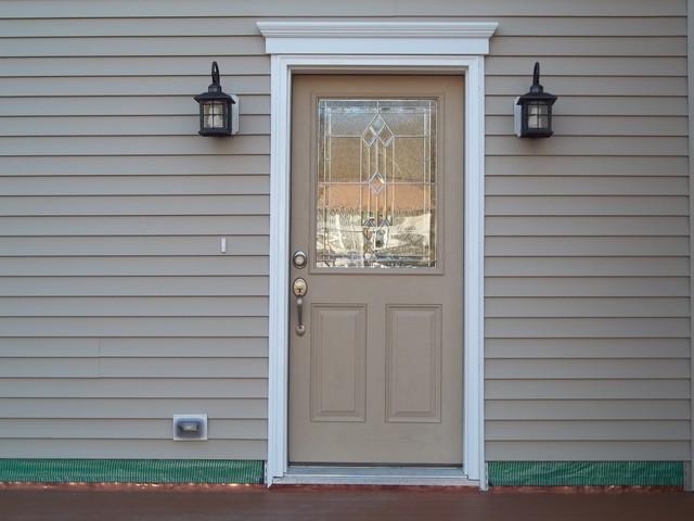 Faux Wood Door Painting exterior
