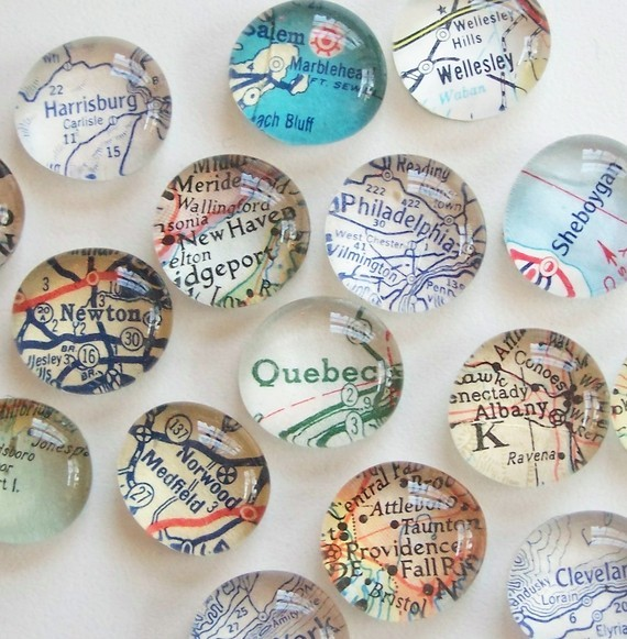 Vintage Map Magnets by Tanner Glass modern-home-decor