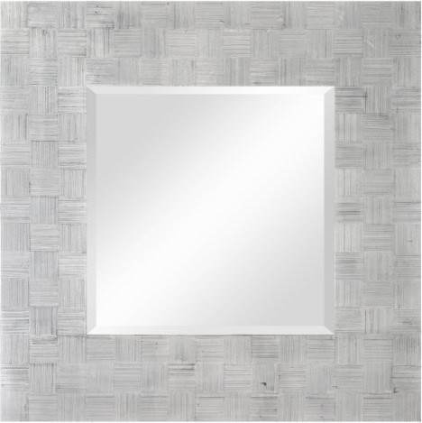 Angela Silver Decorative Mirror - 34W x 34H contemporary-mirrors