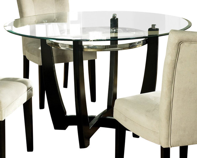 glass top 48 inch round dining table contemporary dining tables
