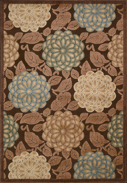 """Graphic Illusions GIL13 2'3"""" x 3'9"""" Brown Runner Rug contemporary-rugs"""