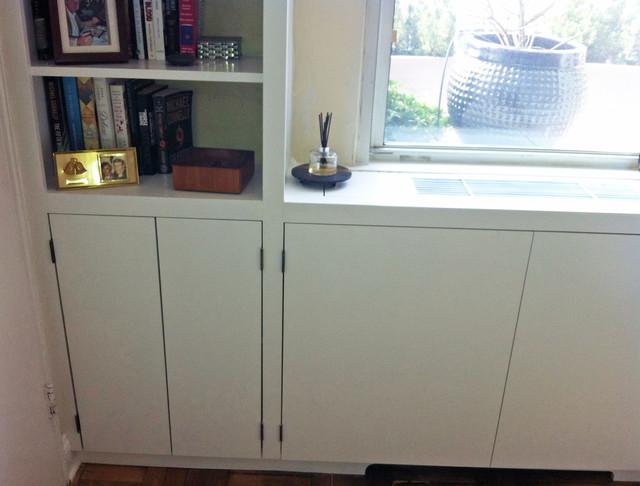 NY Interior Design Modern Built-In Cabinets contemporary-bedroom