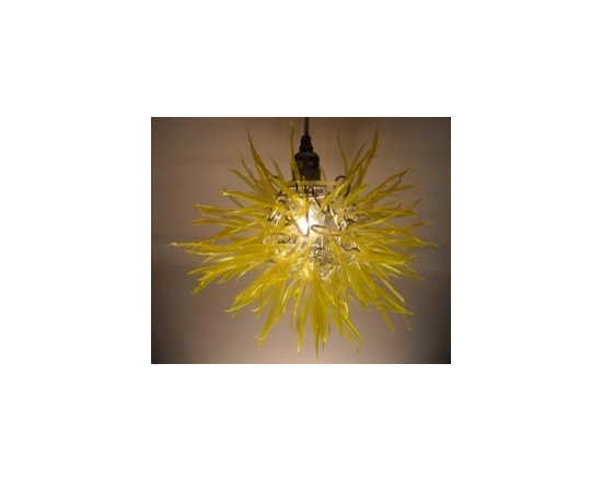 """Eco Friendly Furnture and Lighting - Captivating Modern Elegance with """"Unexpected Materials"""" Title: """"Spore"""" Medium: Recycled Plastic Bottles & Aluminum"""