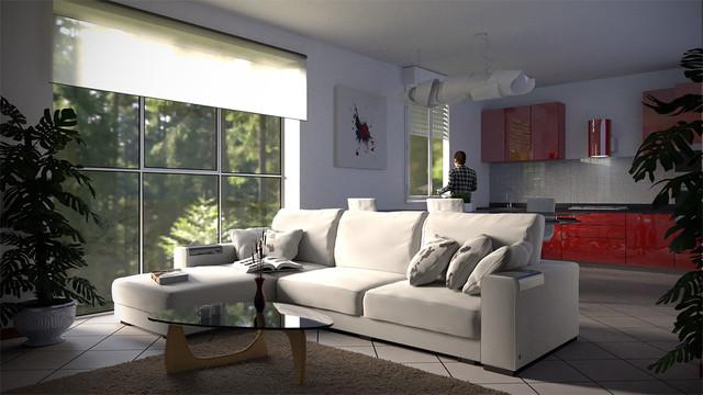 Idee Soggiorno Con Angolo Cottura: Arredamento soggiorno ...