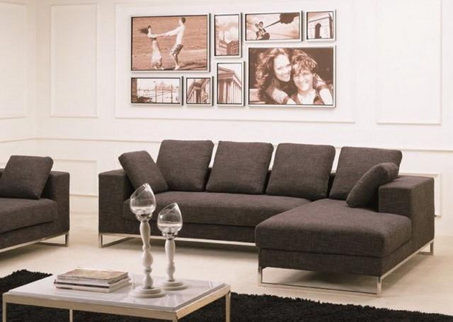 Bento Sectional Sofa with Loose Back Pillows contemporary-sofas