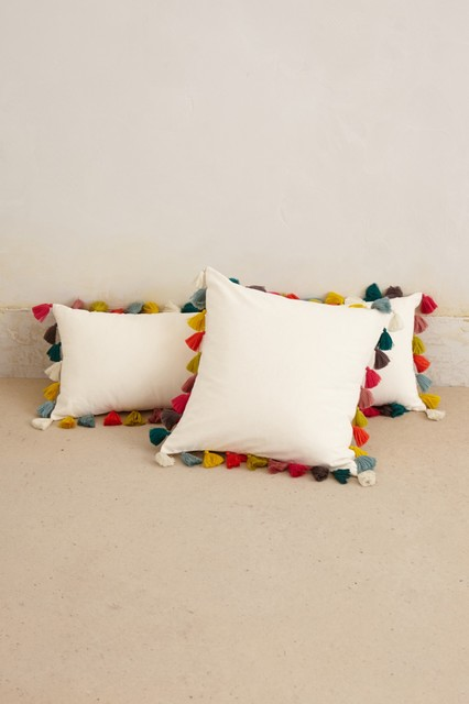 Throw Pillow With Tassels : Firenze Velvet Tassel Pillow - Contemporary - Decorative Pillows - by Anthropologie
