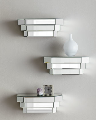 Mirrored Step Shelf - Modern - Display And Wall Shelves - by Neiman Marcus