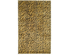 Handmade Soho Leopard Skin Beige New Zealand Wool Rug contemporary-rugs