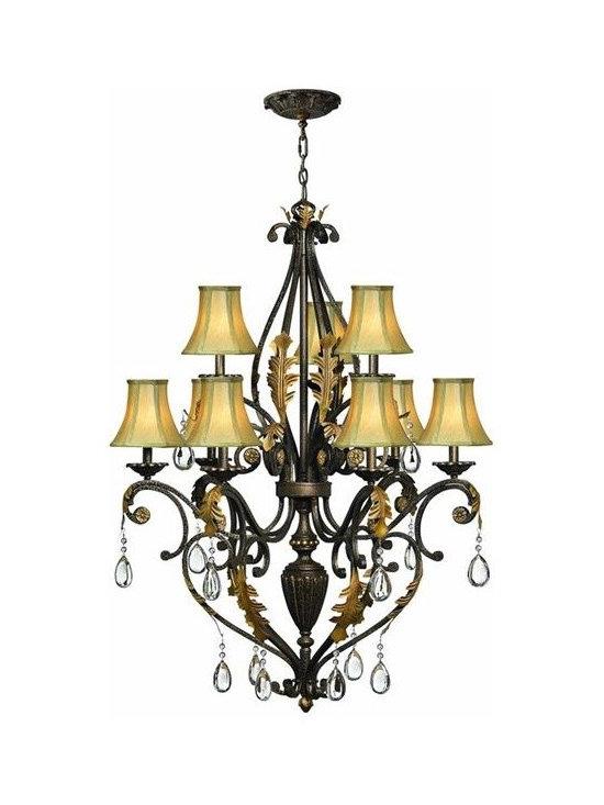 Hinkley Lighting 4809SU 2 Tier 9 Light Chandelier Veranda Collection -
