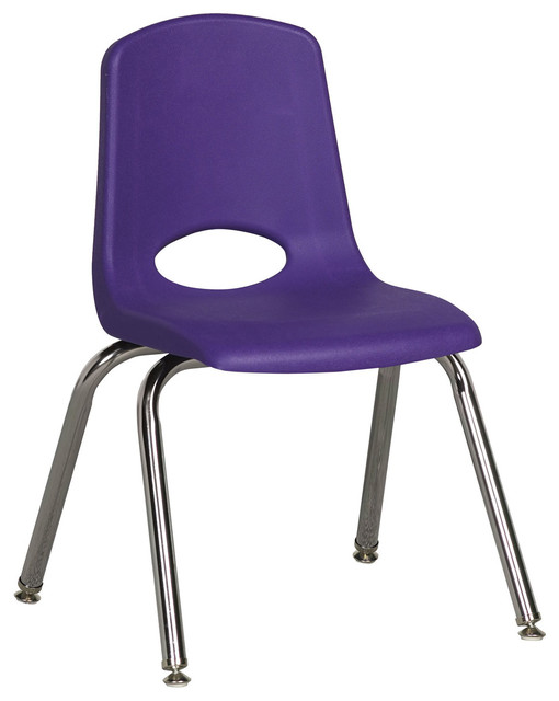 Modern Classroom Chairs : Ecr kids classroom quot stack chair chrome legs
