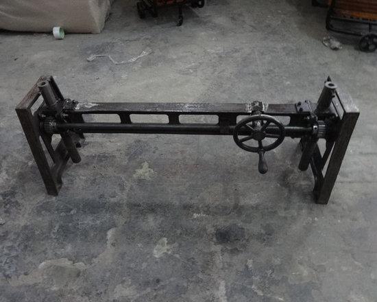 Cast iron heavy dining table -