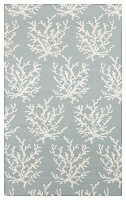 Surya Boardwalk BDW-4010 5' x 8' Powder Blue, White Rug contemporary-rugs