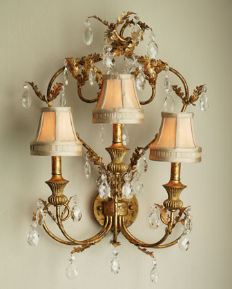 Elegant Leaf Sconce - Traditional - Wall Sconces - by Horchow