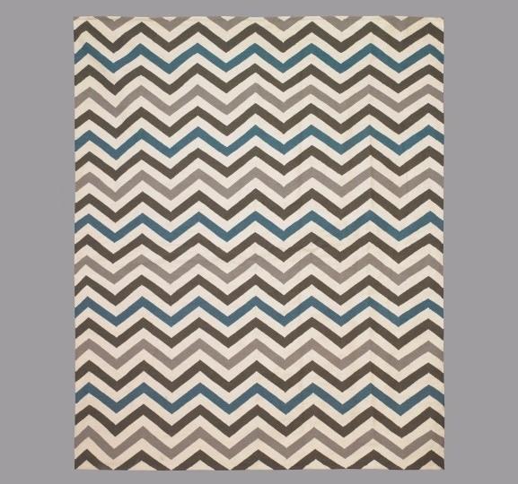 Zig Zag Lapis Rug modern-rugs