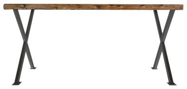 Industrial Modern X Frame Reclaimed Wood Desk contemporary-desks