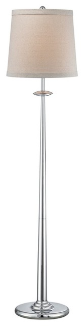 Contemporary Lite Source Dolce Chrome Floor Lamp contemporary-floor-lamps