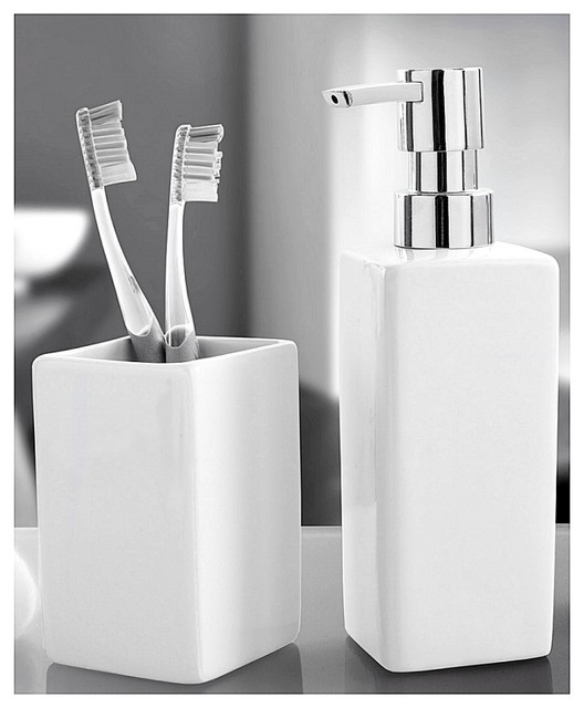 Luxury porcelain bathroom accessories set 2 pieces - Modern bathroom accessories sets ...