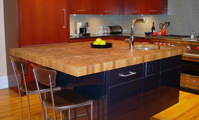 Teak Butcherblock Countertop with Undermount Sink.jpg kitchen-countertops