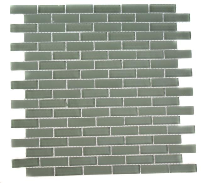 Loft Seafoam Brick Glass Tiles contemporary-tile