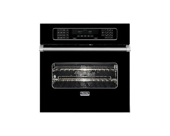 """Viking 30"""" Single Electric Wall Oven, Black 