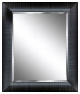 Deco Mirror Mirrors 29 in. x 35 in. Dover Mirror in Grey Dark grey 8250 - Contemporary ...