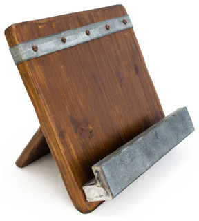 Bambeco 19th Century Reclaimed Wood iPad and Cookbook Holder - Rustic - Cookbook Stands And ...