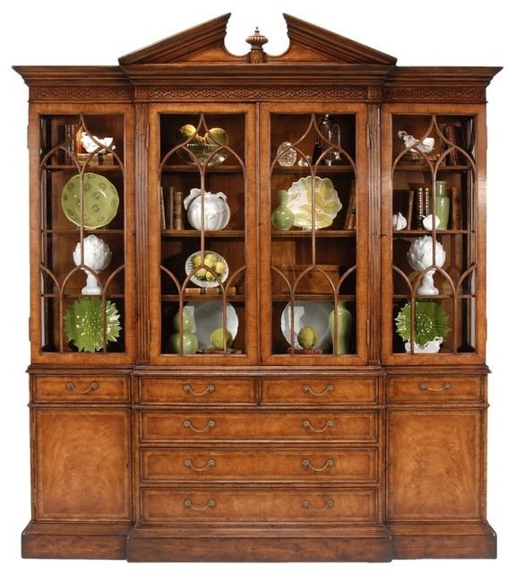 Jonathan Charles China Cabinet Windsor traditional-china-cabinets-and ...