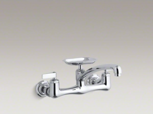 """KOHLER Clearwater(R) double lever handle sink supply faucet with 8"""" swing spout contemporary-bathroom-faucets"""