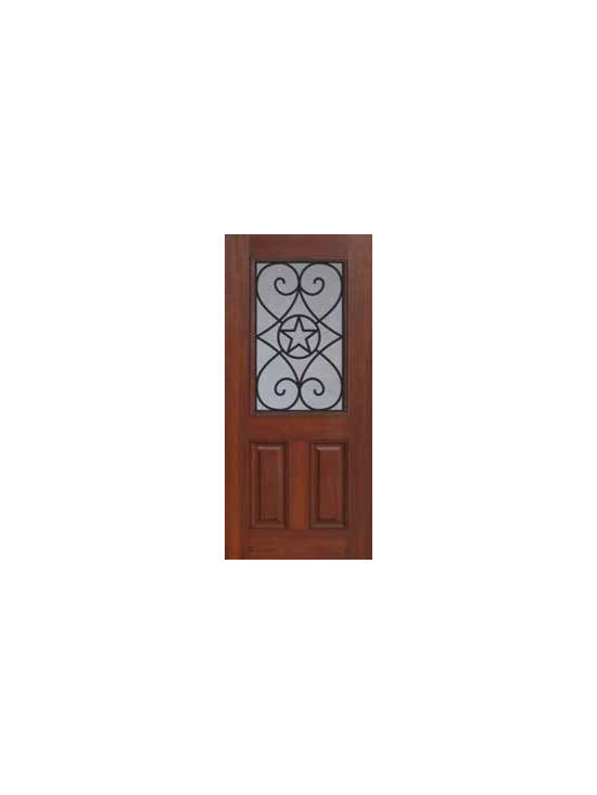 "Single Door 80 Fiberglass Austin Texas Star 1/2 Lite GBG Glass - SKU#    MCT012WABrand    GlassCraftDoor Type    ExteriorManufacturer Collection    1/2 Lite Entry DoorsDoor Model    AustinDoor Material    FiberglassWoodgrain    Veneer    Price    980Door Size Options      +$percent  +$percentCore Type    Door Style    Texas StarDoor Lite Style    1/2 LiteDoor Panel Style    2 PanelHome Style Matching    Door Construction    Prehanging Options    Slab , PrehungPrehung Configuration    Single DoorDoor Thickness (Inches)    1.75Glass Thickness (Inches)    Glass Type    Double GlazedGlass Caming    Glass Features    Tempered glassGlass Style    Glass Texture    Glass Obscurity    Door Features    Door Approvals    Energy Star , TCEQ , Wind-load Rated , AMD , NFRC-IG , IRC , NFRC-Safety GlassDoor Finishes    Door Accessories    Weight (lbs)    248Crating Size    25"" (w)x 108"" (l)x 52"" (h)Lead Time    Slab Doors: 7 Business DaysPrehung:14 Business DaysPrefinished, PreHung:21 Business DaysWarranty    Five (5) years limited warranty for the Fiberglass FinishThree (3) years limited warranty for MasterGrain Door Panel"