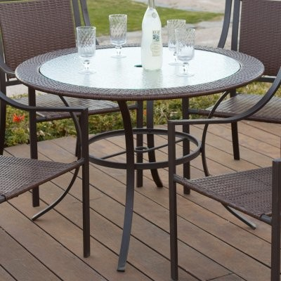 Monterey Patio Dining Table - Mocha modern-dining-tables
