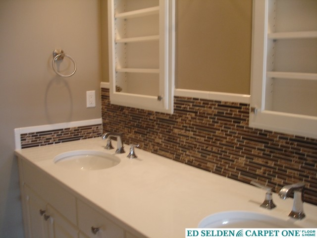 Backsplash For Bathroom Sink Contemporary Bathroom