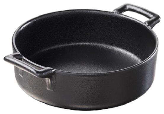 Revol Porcelain Belle Cuisine Deep Round Dish 17.75 oz. Cast-Iron Style contemporary-cookware