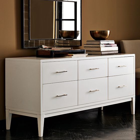 Narrow-Leg 6-Drawer Dresser modern dressers chests and bedroom armoires